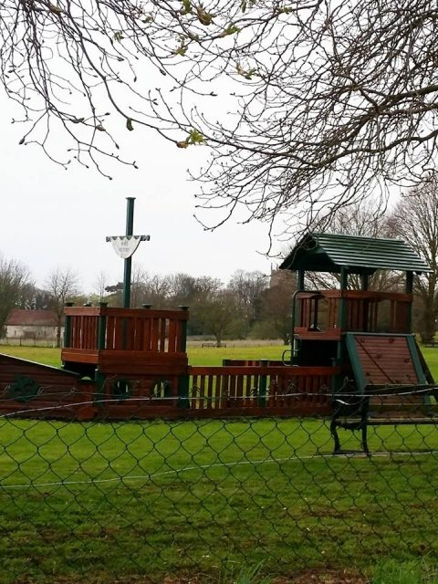 Ship-shaped climbing frame in Burnham Thorpe